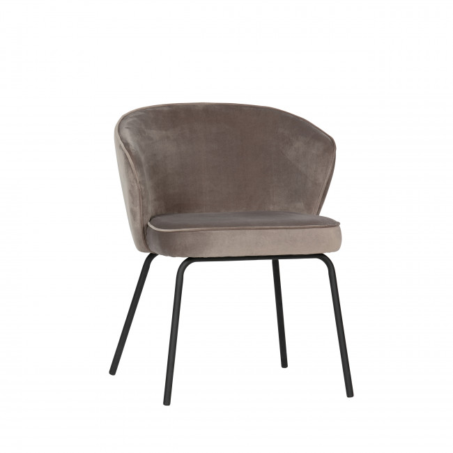 Admit - 2 chaises en velours - Taupe