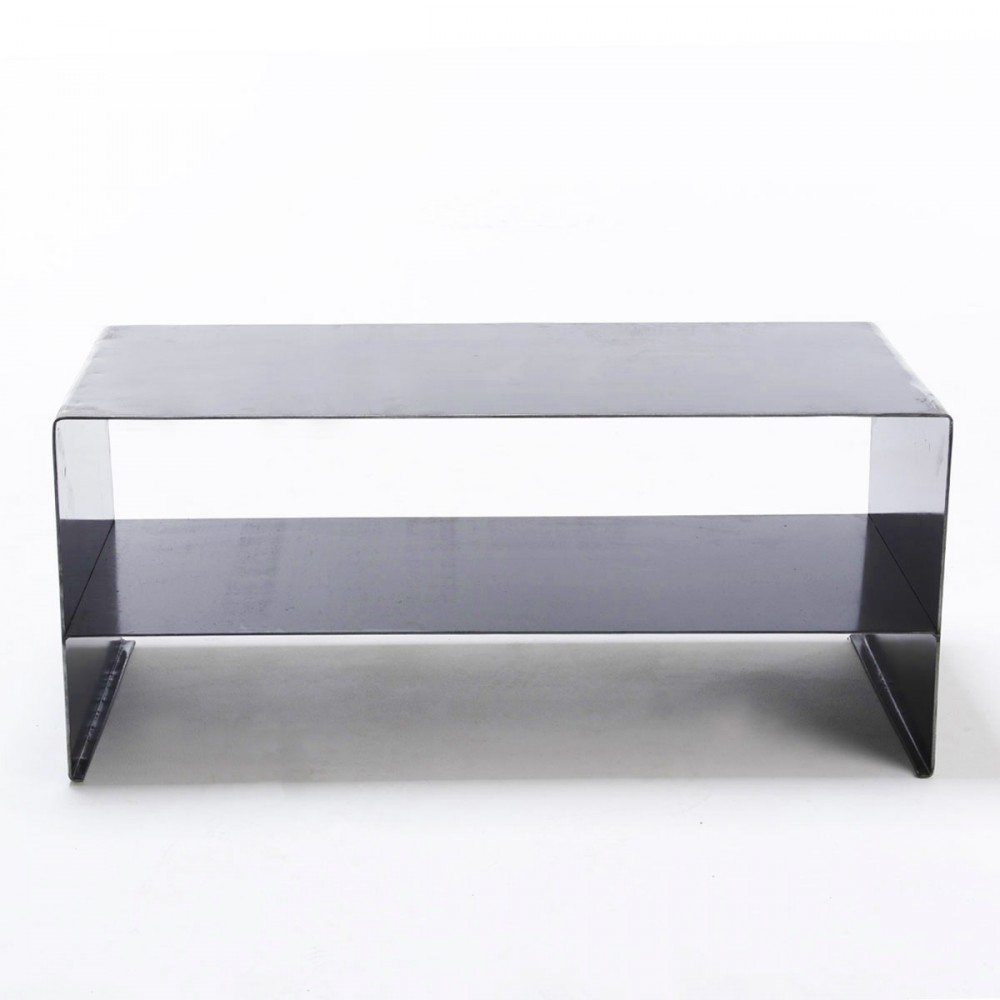 Table basse bar lounge - Table basse acier brosse ...