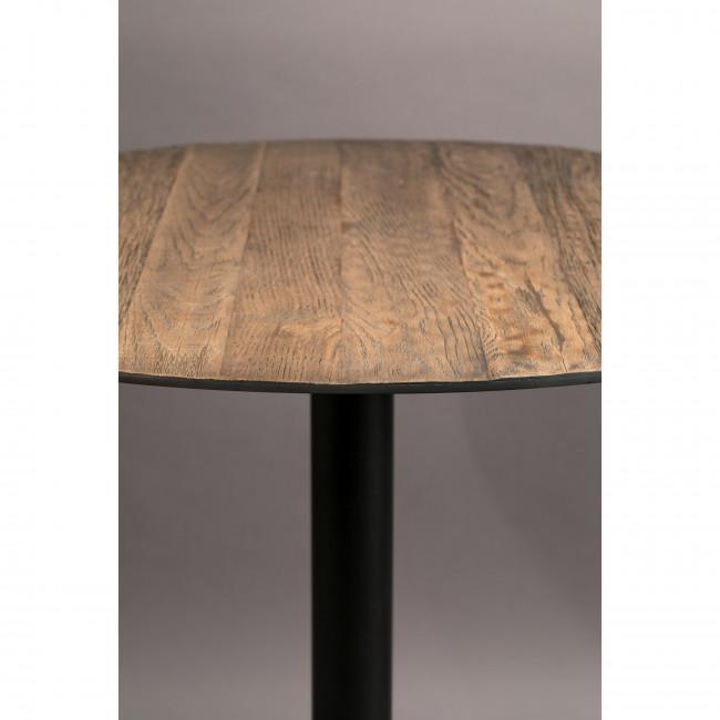 Braza - Table de bistrot ronde en métal et bois ø75cm