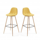 Lot de 2 tabourets de bar 65cm Nolite