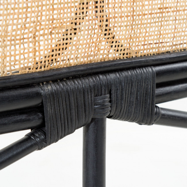 Lalita - Tête de lit en cannage 170cm - Noir
