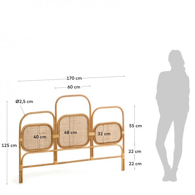 Krysia - Tête de lit en rotin 170 cm