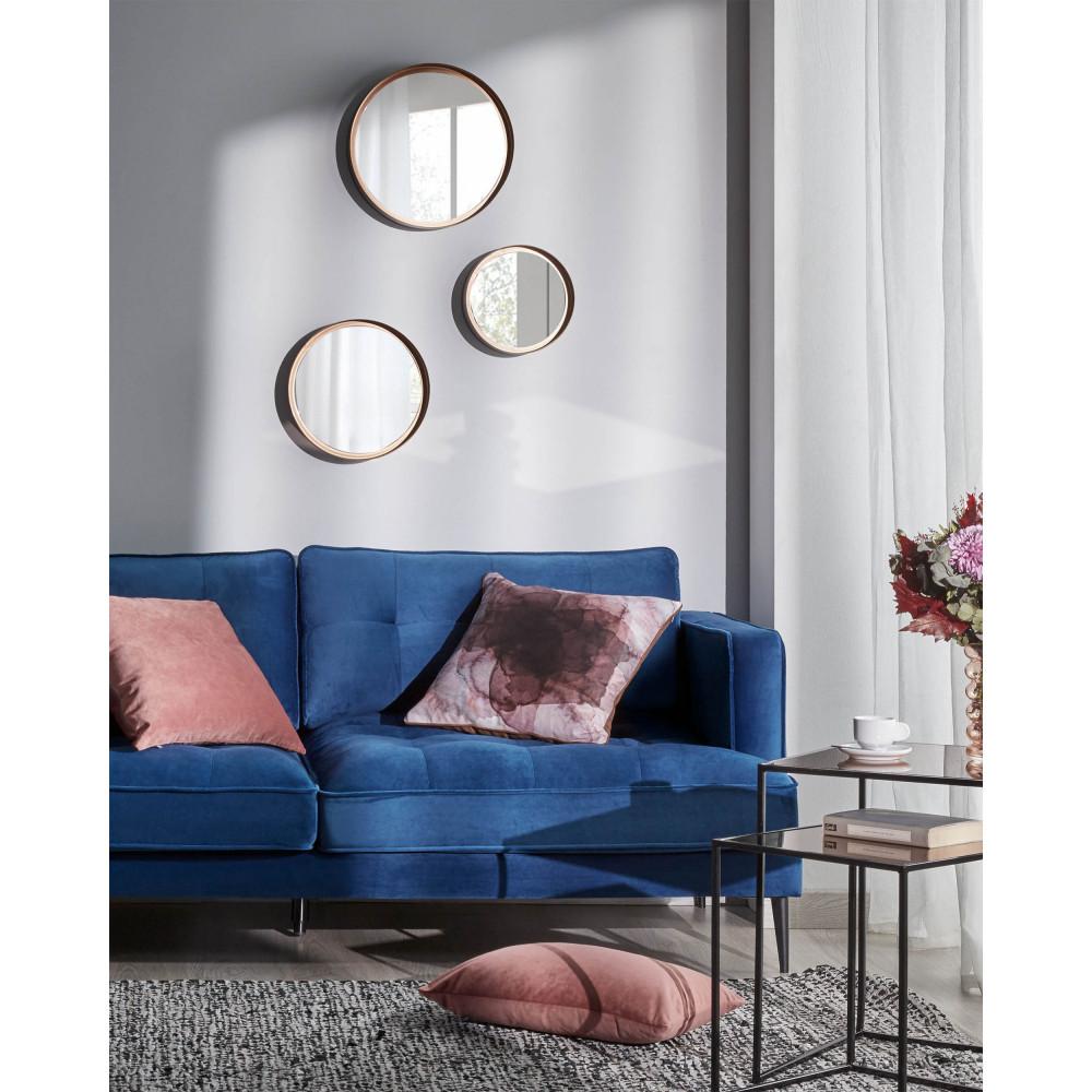Elviros Housse de Coussin 45x45 cm Velout/é Douce Solide D/écoratif pour Canap/é Lit Chambre Salon Voiture Orange