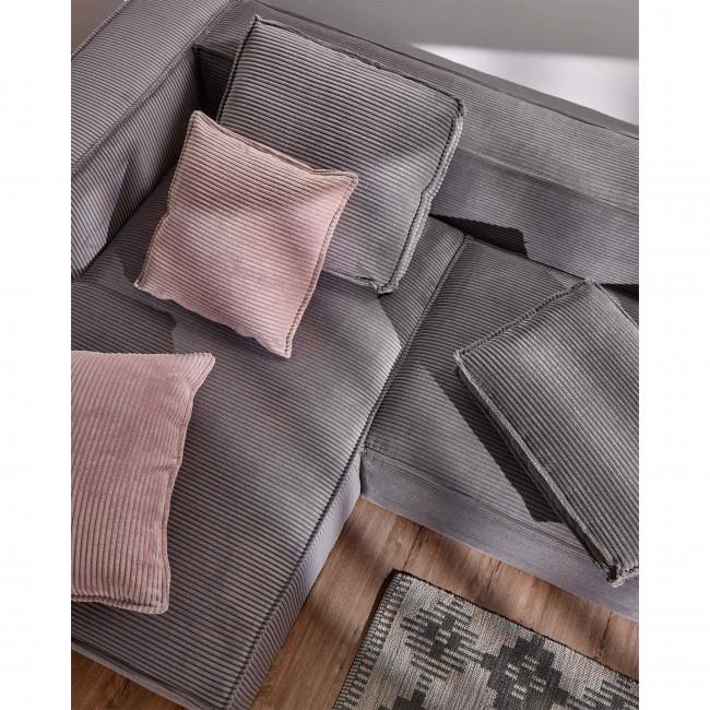 Jaraba - Housse de coussin en velours côtelé 45x45 cm