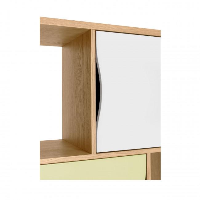 Avon - Bibliothèque design 4 portes 4 niches