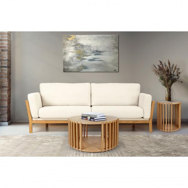 Drum - Table d'appoint ronde en bois ⌀53cm