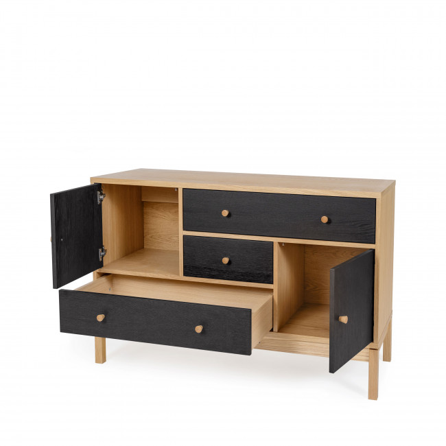 AbbeyWood - Buffet design bois 3 tiroirs 2 portes