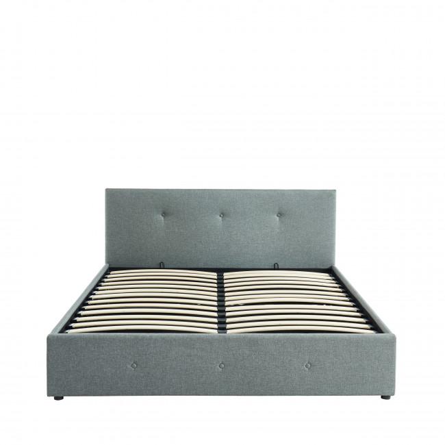 Earls - Lit en tissu avec rangement intégré 140 x 190 cm