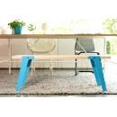 Banc design Switch bleu ambiance