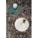 Table d'appoint marbre et laiton Timpa - Blanc craie