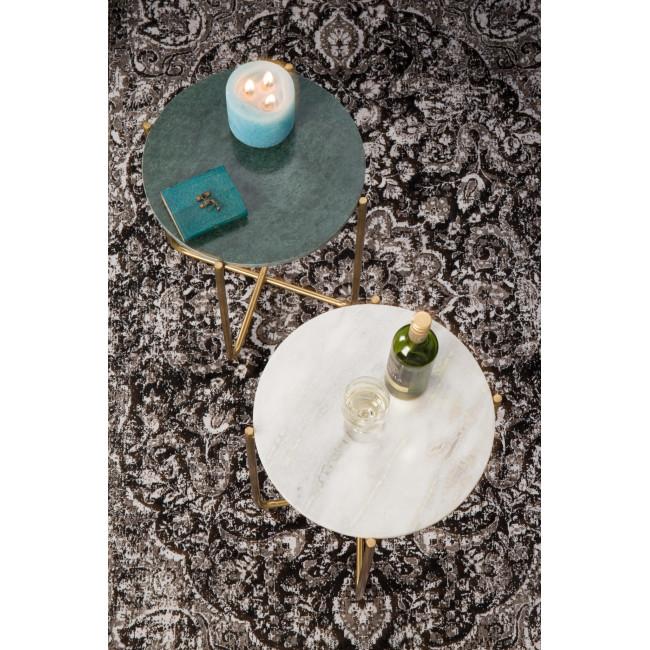Table d'appoint marbre et laiton Timpa - Vert