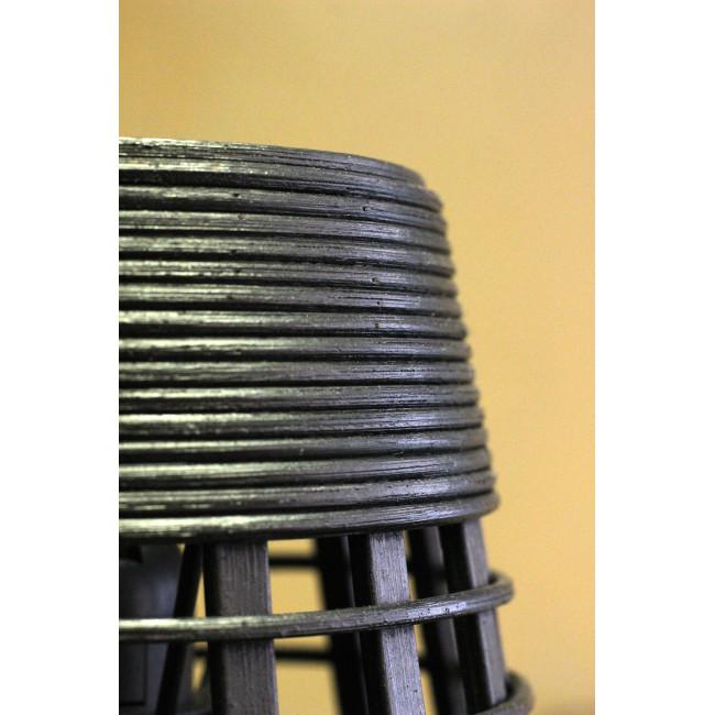 Puebla - Suspension en rotin - Noir