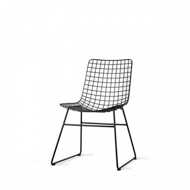 Aslaug - 2 chaises en métal quadrillé