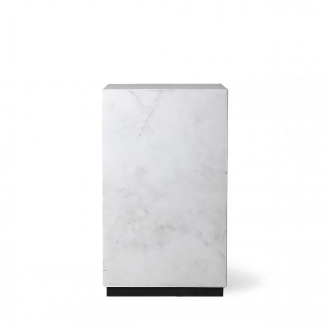 Glusing - Table basse carrée en marbre 25x25cm