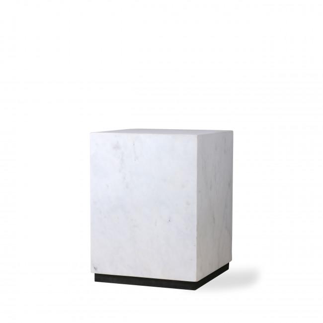 Glusing - Table basse carrée en marbre 28x28cm