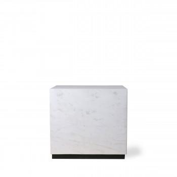 Glusing - Table basse carrée en marbre 35x35cm