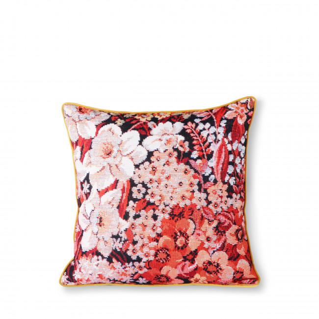 Gierle - Coussin 2 faces à motifs floraux en tissu 50x50cm