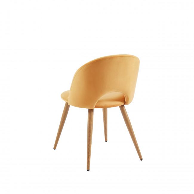 Bratina - Chaise en velours - Jaune