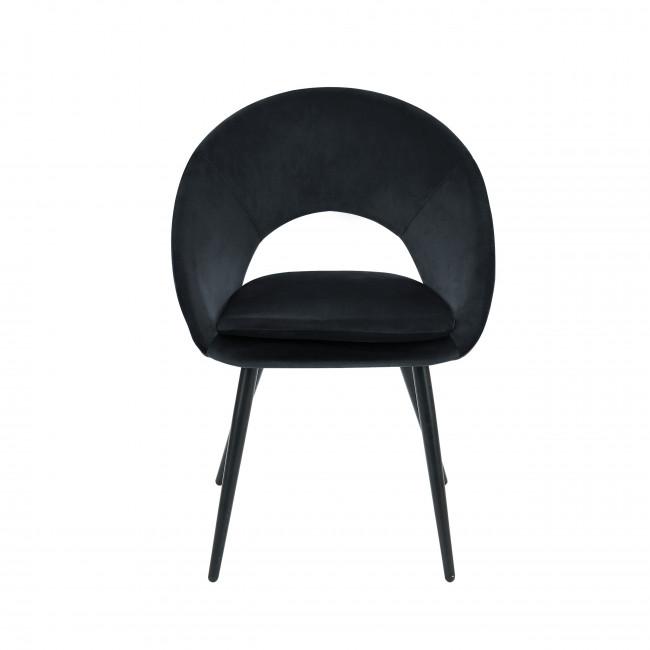 Kablar - Chaise en velours - Noir