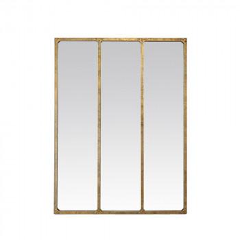 Miroir verrière métal rouillé 90x120  - Or
