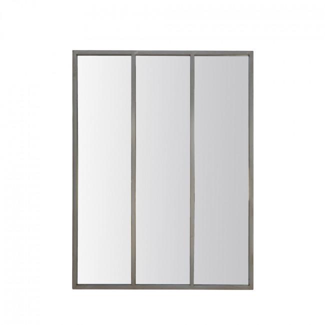 Miroir verrière métal rouillé 90x120 - Argent