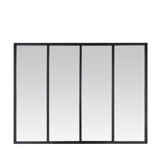 Miroir verrière zinc 90x120 Frank - Noir