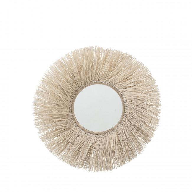 Basoda - Miroir rond en rotin ø95cm