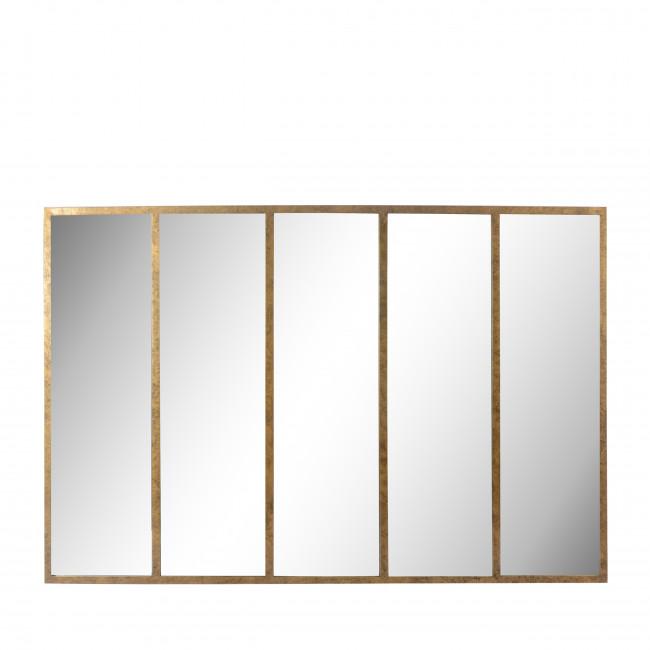 Loos - Miroir verrière en métal 140x90 cm - or