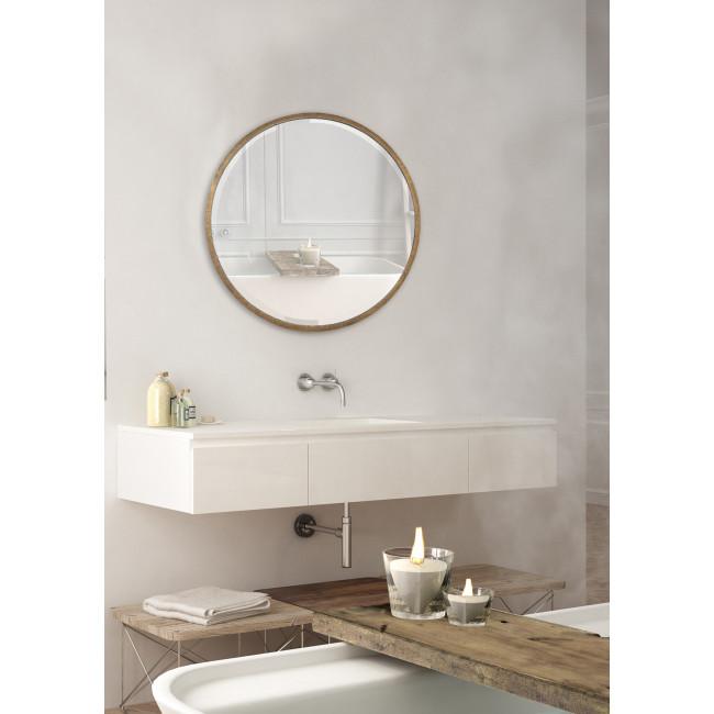 Miroir rond en métal ø100 cm Ardes - Or