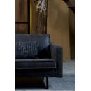 Canapé d'angle gauche vintage Bronco - Noir