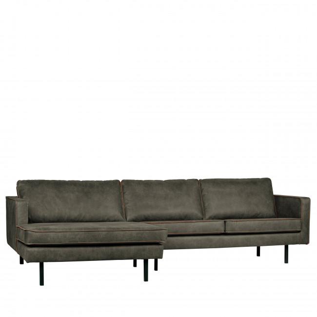 Canapé d'angle gauche vintage Bronco - Kaki