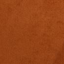 Méridienne gauche en velours Bronco - ROUILLE