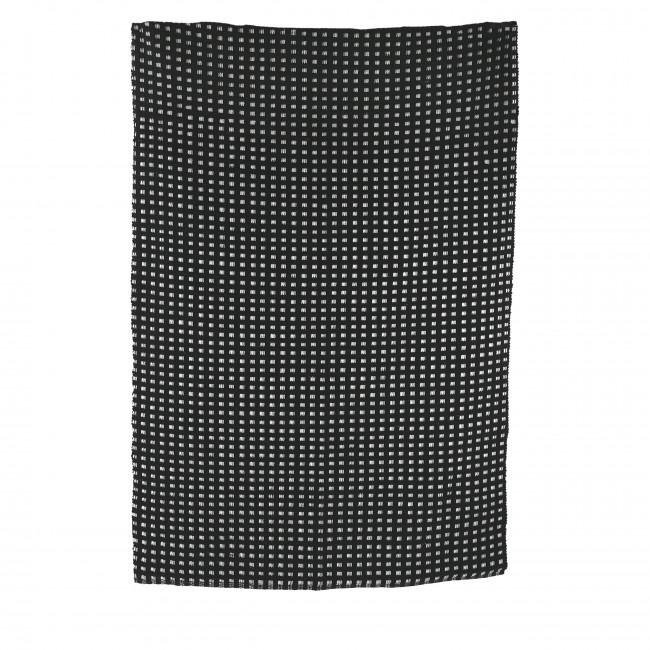 Riva - Tapis en coton noir et blanc