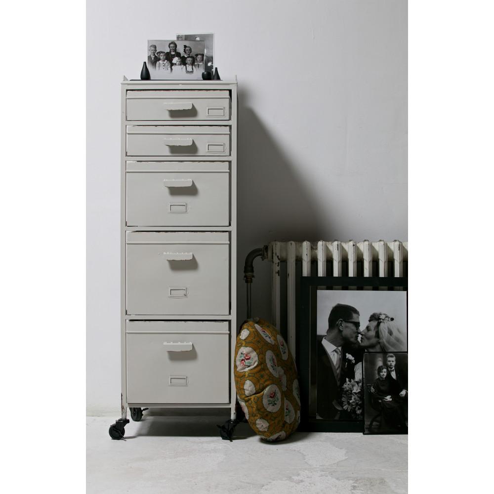 Meuble de rangement métal 5 tiroirs Chaplin par Drawer