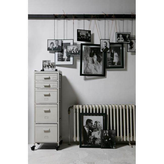 Meuble de rangement métal 5 tiroirs Chaplin - blanc