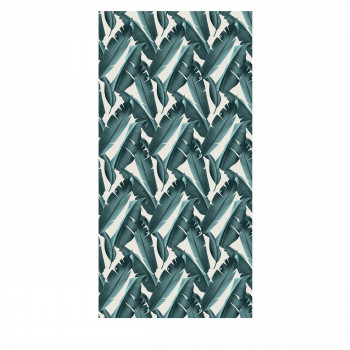 Lagosa - Tapis vinyle rectangle motif tropical