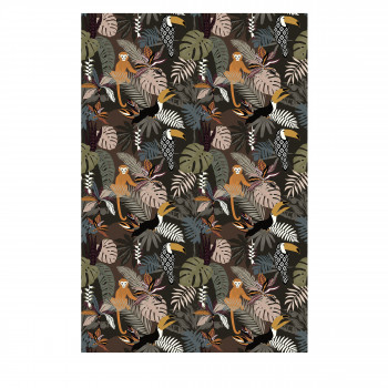 Oldeani - Tapis vinyle rectangle motif jungle
