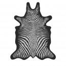 Bokala - Tapis vinyle imprimé noir style peau de zèbre