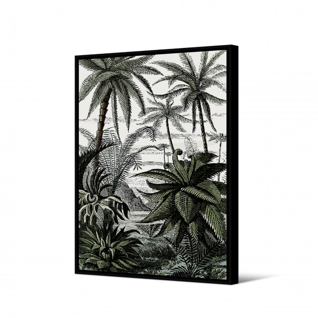 Assoka - Toile imprimée jungle 92,5x65cm