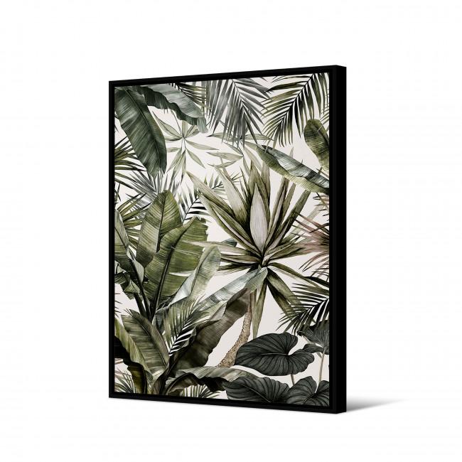 Naandi - Toile imprimée motif tropical 92,5x65cm