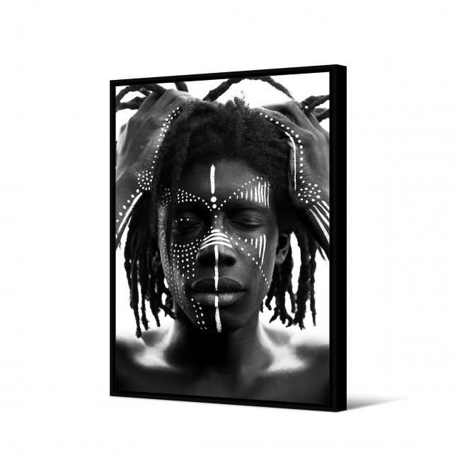 Ganba - Toile imprimée visage 92,5x65cm