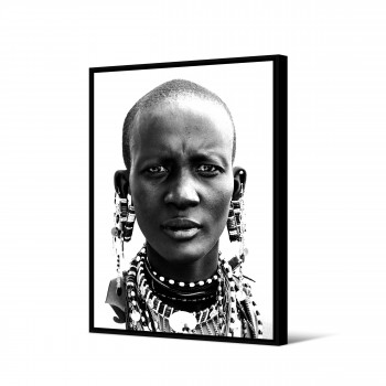 Bibolo - Toile imprimée visage 92,5x65cm