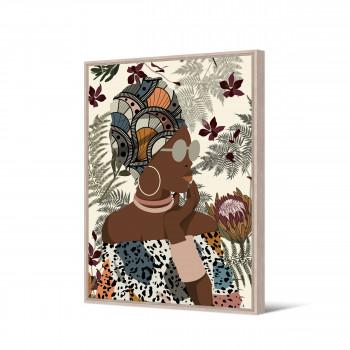 Msoga - Toile imprimée femme 92,5x65cm