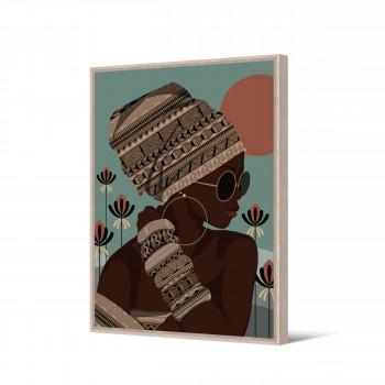 Nhemba - Toile imprimée femme 92,5x65cm