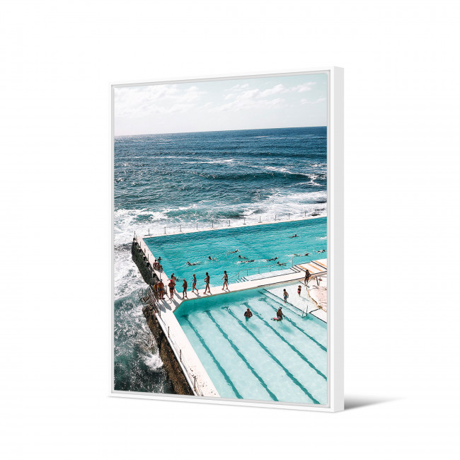 Ngimu - Toile imprimée piscine 92,5x65cm