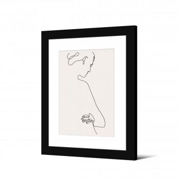 Hausvik - Image encadrée femme trait continu 50x40cm