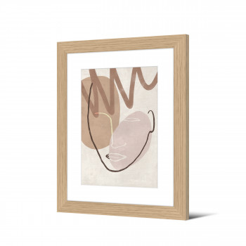 Oksino - Image encadrée visage abstrait 50x40cm