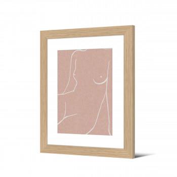 Izvara  - Image encadrée femme nue 50x40cm
