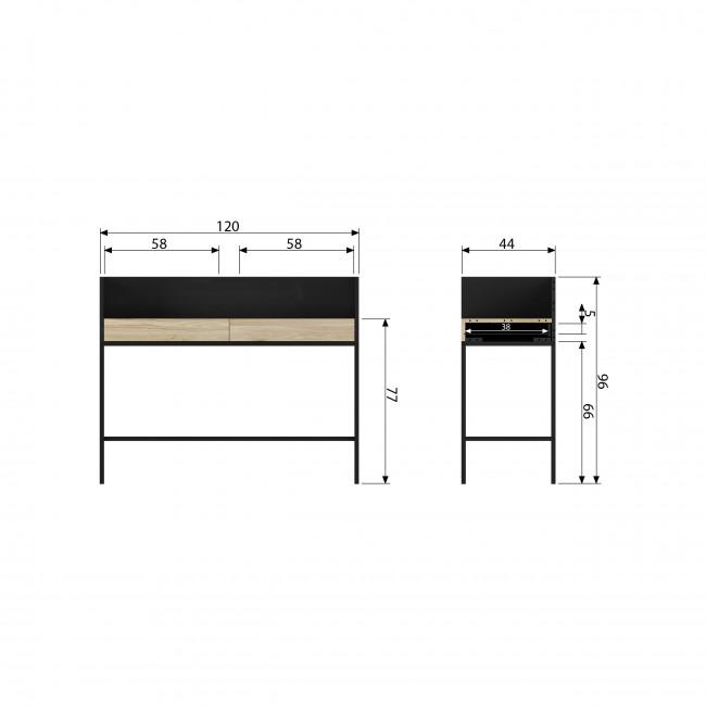 Blackburn - Bureau en métal et bois