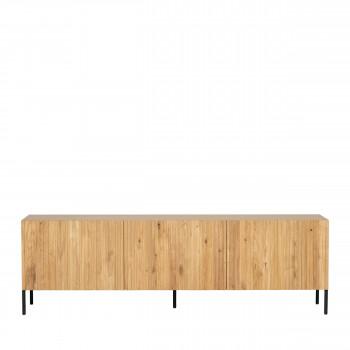 Gravure - Meuble TV 3 portes en bois